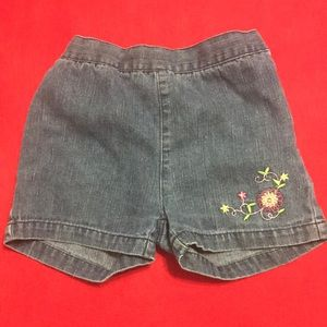Other - Jean shorts with flower appliqué